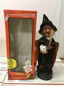 """1990 Telco Motion-ettes Of Halloween Sound & Lights WITCH w/box 16"""""""