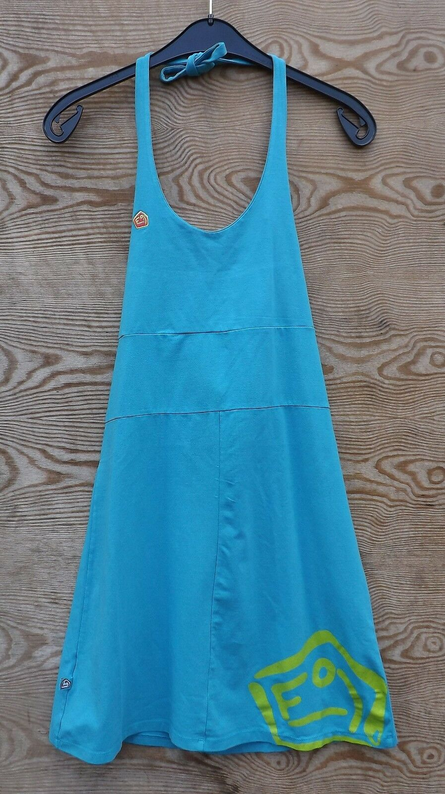 E9 Andy, Summer Cotton Dress, Cyan