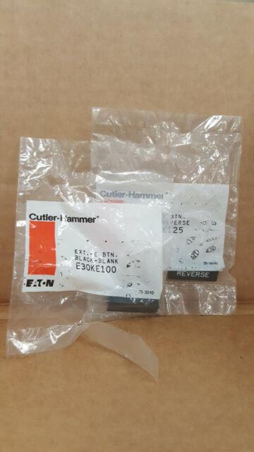 NIB CUTLER HAMMER E30KE100 EXTENDED BUTTON BLACK A1 .. EACH