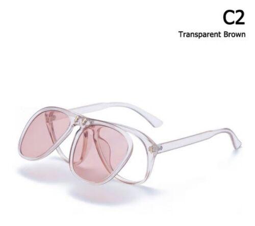 New Fashion McGregor Square Conor Style Flip Up Sunglasses Unisex Vintage Brand