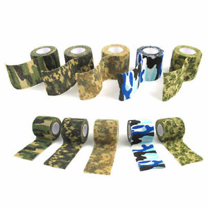 Camo-Camouflage-Stealth-Tape-Wrap-Waterproof-Hunting-Camping-Hiking-4-Colors