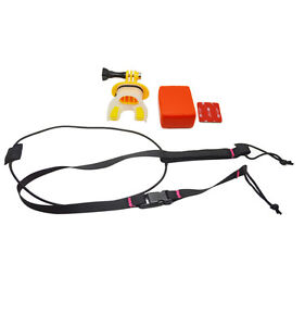 Mouth-Mount-Set-with-Floaty-block-amp-Rope-for-GoPro-Hero-4-3-3-2-1
