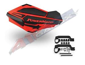 PowerMadd-SENTINEL-Handguard-Guards-KIT-Red-Black-TRX-400EX-450R-250R-700XX