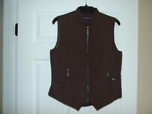 EOUS-Windsor-Equestrian-Riding-Vest-Size-Medium-for-Woman-Dark-Brown