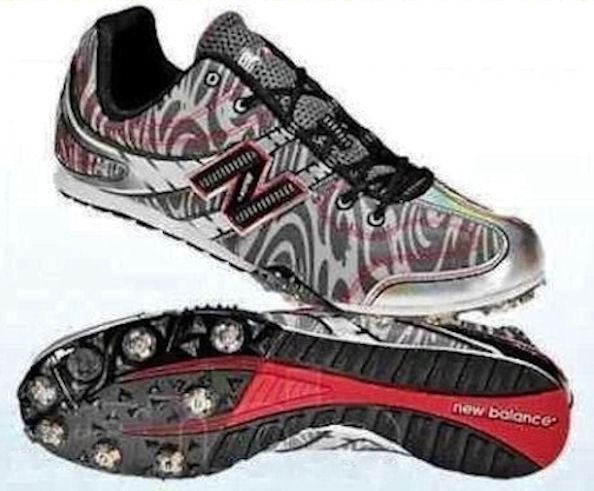 NEW BALANCE 506 MD506BR Grey Black Red Track Field Spikes shoes NEW Mens 10 12