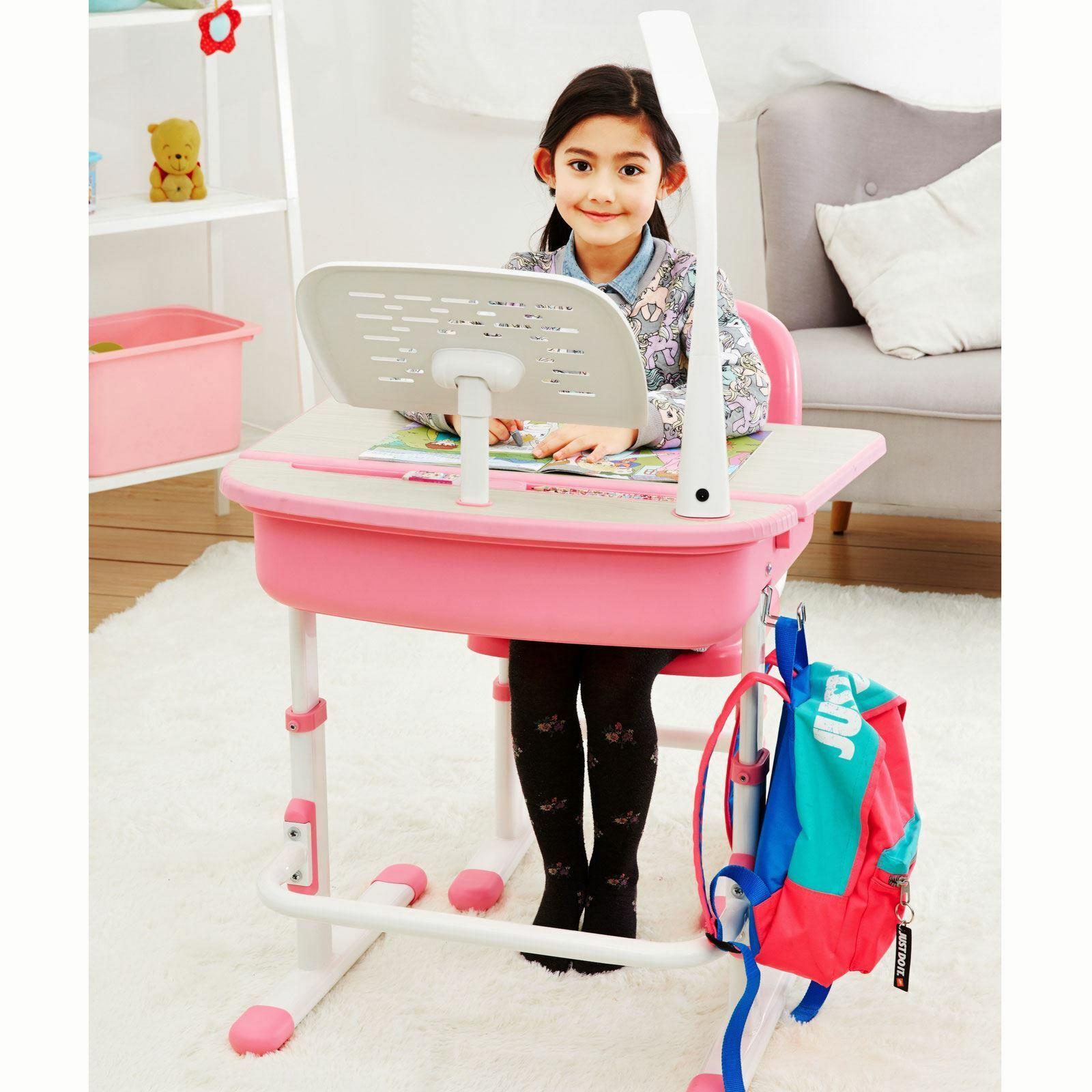 Rose Ergonomique Bureau et Chaise Neuf Filles Chambre Meuble