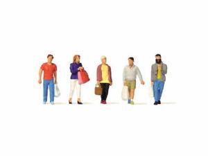 Preiser-10673-Passanten-beim-Einkauf-Shopping-5-Figuren-H0-Neu