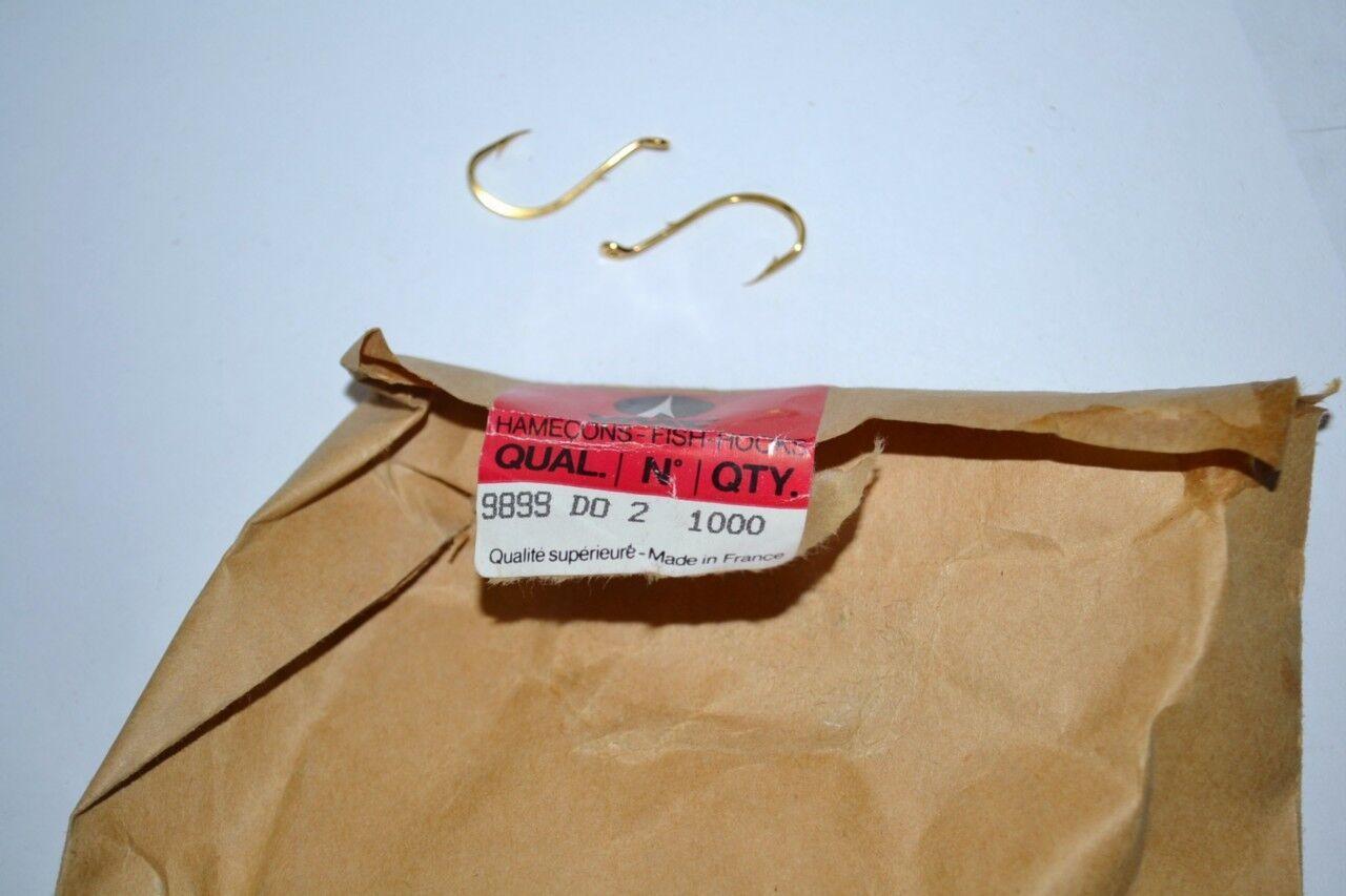 New VMC Rapala Bag of  1000 gold Fish Hooks  Size 2 Baitholder Live Bait 9899 DO  special offer