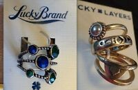 Lucky Brand Multi-ring Sets Pick From Many Styles - Heart, Stones, Dots $35