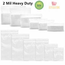 Clear 2 Mil Heavy Duty Reclosable Zip Plastic Lock Poly Bags Jewelry Zipper Bags