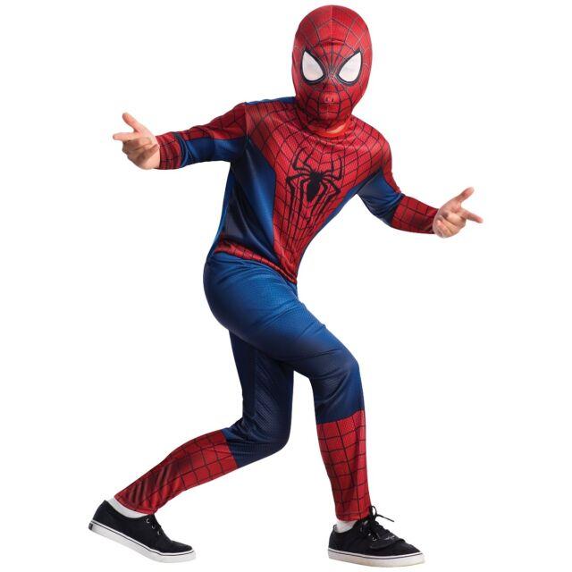 Spider-Man Costume Kids Spiderman Superhero Halloween Fancy Dress
