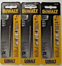 Dewalt Dw1208 18 Cobalt Split Point Twist Drill Bits 3pks