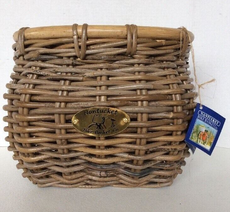Nantucket Bike Basket Co. Adult Wicker Rattan TUCKERNUCK Bicycle Basket NEW