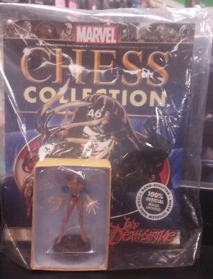 """/"""" BLACK PAWN MARVEL CHESS COLLECTION #46 /""""LADY DEATHSTRIKE EAGLEMOSS"""