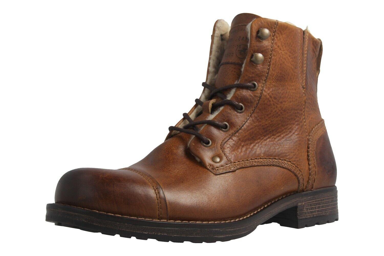 Mustang zapatos botines en talla extragrande grandes zapatos caballero marrón XXL