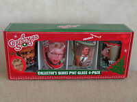 A Christmas Story Set Of 4 Pint Size Beverage Drink Glasses Collectors Series