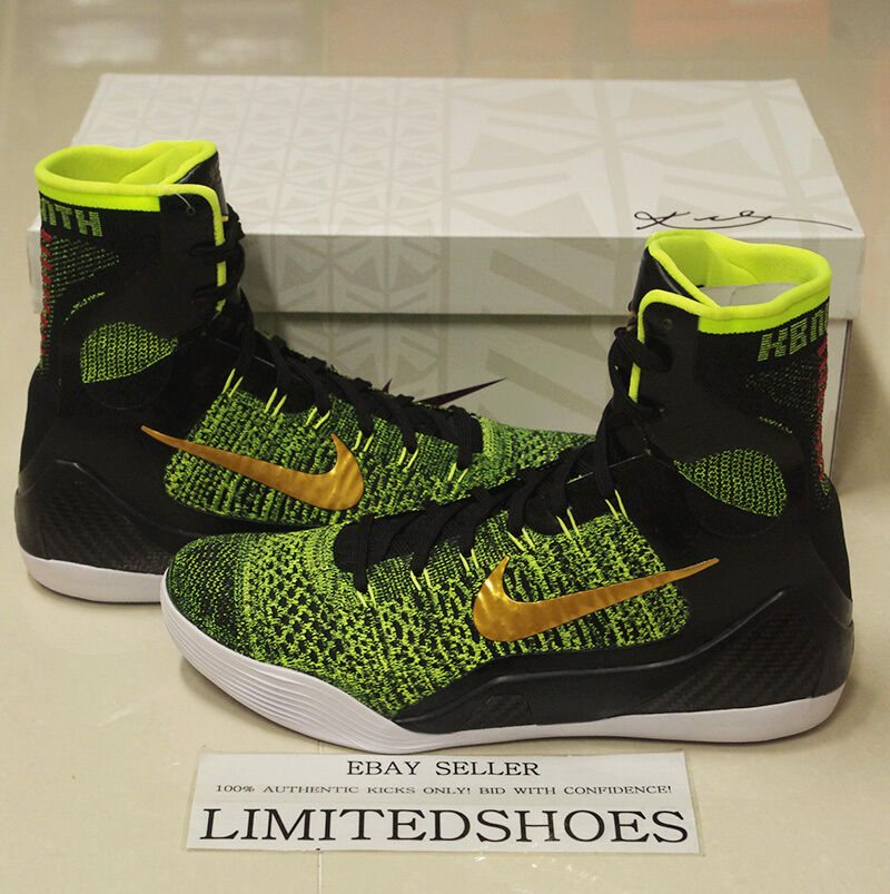 NIKE KOBE IX 9 ELITE VICTORY VOLT US 10.5 x brave blue htm low id usa christmas