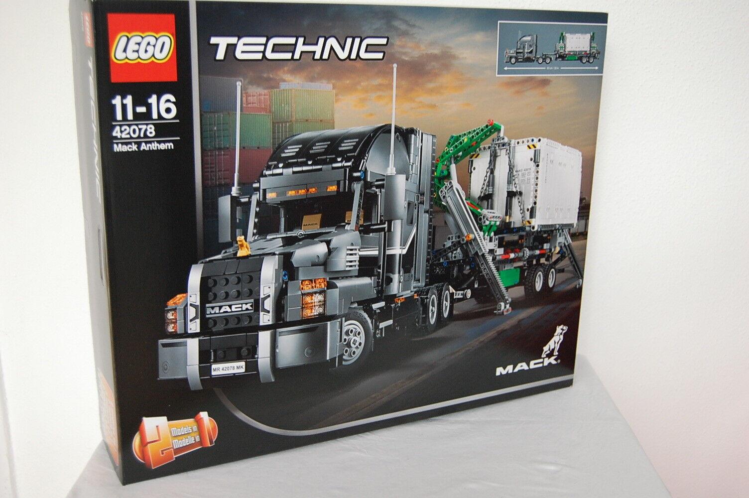 LEGO Technic 42078 - Mack Anthem Konstruktionsspielzeug  Neu OVP