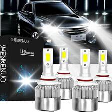 4x 9006+9005 Hi//Lo For Honda Accord 90-2012 Civic 04-2015 MINI LED Headlight Kit