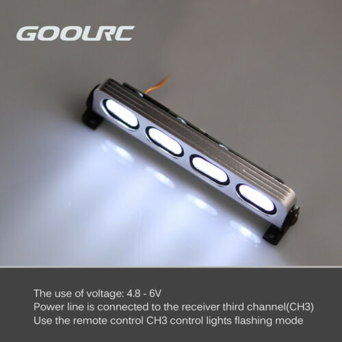 Details about  /GoolRC AX-508W Ultra Bright LED Lamp Light for 1//8 1//10 HSP Traxxas for RC F3X8