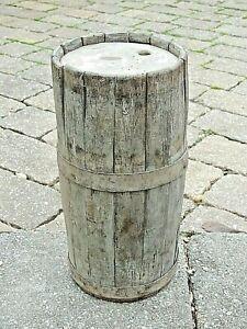 Antique-Wooden-Gun-Powder-Barrel-Keg-Whiskey-Rum-Primitive-As-Shown-1800-039-s