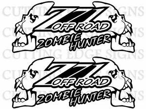 Z Decals Z Off Road Zombie Hunter Custom Vinyl Decals Set - Custom vinyl decal