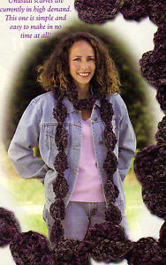 Unusual Twirling Scalloped Scarf Crochet Pattern Instructions Only