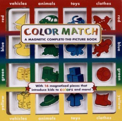 Color Match- A Kids Magnetic Complete The Picture Book ~ FREE SHIPPING