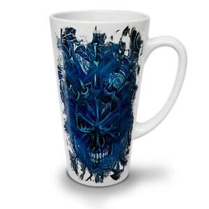 Blue Rose Skull NEW White Tea Coffee Latte Mug 12 17 oz | Wellcoda