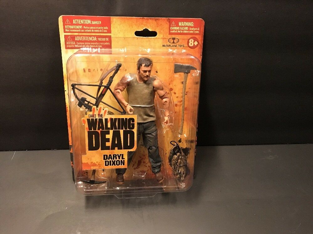 The Walking Dead First Release Small Small Small Card Daryl Dixon Moc Action Figure Tv 832d1a
