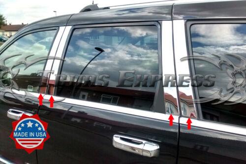 fit:2005-2010 Jeep Grand Cherokee WK 8Pc Pillar Post Trim Stainless Steel