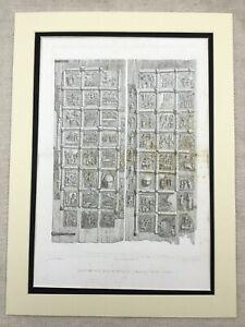 1857-Print-Architectural-Engraving-St-Zenon-Church-Verona-Italy-Basilica-LARGE