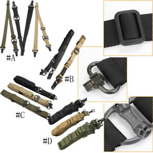 Tactical-1-2-Point-Rifle-Sling-System-Strap-Hunting-Bungee-Quick-Release-Detach