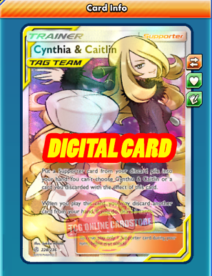 FA Cynthia & Caitlin FULL ART for Pokemon TCG Online ...