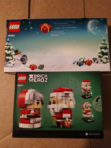 Lego BRICKHEADZ 40274 40253 SET DI NATALE HAPPY CHRISTMAS