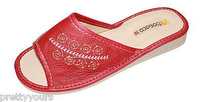 Nuevo Mujeres Comodidad Casa Zapatillas De Cuero Mocasines tamaño de Reino Unido 3 4 5 6 7 8
