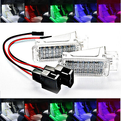 2X SMD LED FUßRAUMBELEUCHTUNG DIMMBAR Seat Leon 5F1 ROT