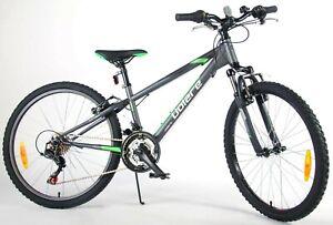 24 zoll jungenfahrrad fahrrad kinderfahrrad bike cruiser 18 gang grau gr n ebay. Black Bedroom Furniture Sets. Home Design Ideas