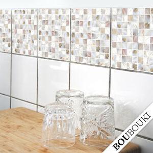 Adesivi per mattonelle mosaico perla 1 originale for Adesivi mattonelle