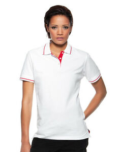 70ed710b9a2d35 Image is loading Womens-Ladies-Plain-WHITE-Cotton-Pique-Short-Sleeve-