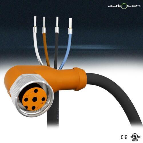abgewinkelt |AA041 IP67 M12-4Pol Sensorleitung 5m PVC