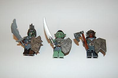 Custom Figuren für Herr der Ringe  Zwergen Krieger Set 2 aus LEGO® Figuren Teile