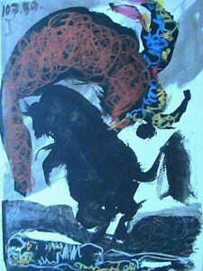 Picasso-Toros-Y-Toreros-1961-Color-Lithograph-Print-Matador-Limited-Edition