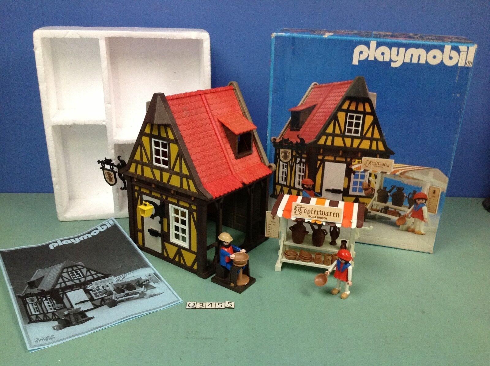 (O3455) Playmobil Casa Del Potter Castello Medievale Rif.  3455 3666  grande sconto