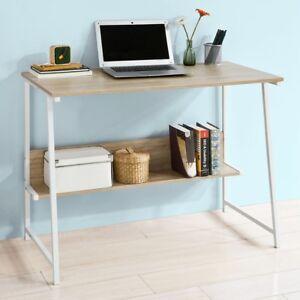 sobuy schreibtisch mit ablage tisch computertisch b rotisch wei natur fwt34 n 4251388600764. Black Bedroom Furniture Sets. Home Design Ideas