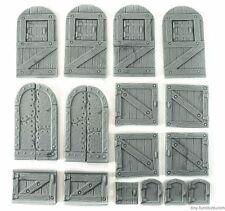 Medieval doors kit - D&D, Mordheim, dungeon terrain, dwarven forge, warhammer