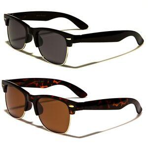 Polarized Classic Vintage Sunglasses Mens Womens Metal Half Frame
