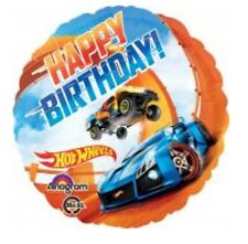 "Hot Wheels 18"" Anagram Balloon Birthday Party Decorations"
