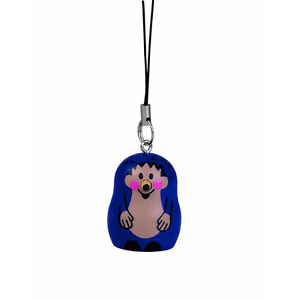 "Der Kleine Maulwurf "" Blue Wood New # Fine Workmanship Motivated Detoa 12818 Key Chain "" Hedgehog"