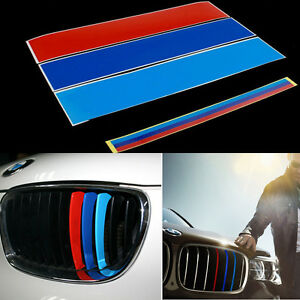 For BMW Kidney Grill M Sport Color Stripes Sticker Vinyl Decal M - Bmw grille stripe decals